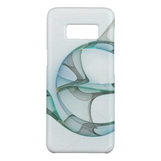 Fraktal-Kunst-blauer Türkis-graue abstrakte Case-Mate Samsung Galaxy S8 Hülle