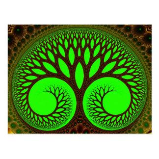 Fraktal-Kunst des Baum-2 Postkarte