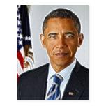 Fraktal-Kunst, offizielles Porträt Barack Obama Postkarten