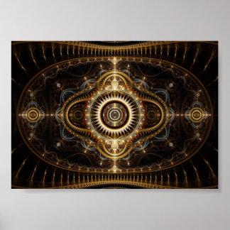 Fraktal-Kunst-Plakat: Alles sehende Auge Poster