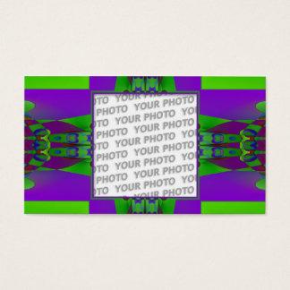 Fraktal KUNST Schablone 32 + Ihr Foto Visitenkarte