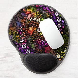 Fraktal lila psychedelische Regenbogen-Spirale Gel Mousepad
