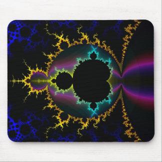 Fraktal Mandelbrot elektrische Nacht Mousepad