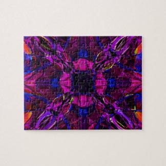 Fraktal-Muster in Lila Puzzle
