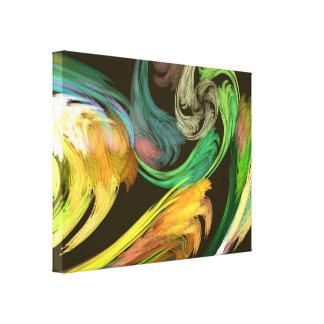 Fraktal - Paisley-Nahaufnahme Leinwanddruck