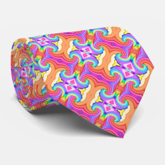 Fraktal-Pastellfarbstrudel-Muster Krawatte