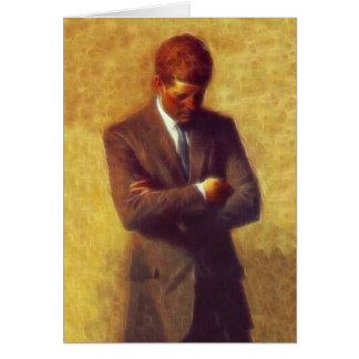 Fraktal-Porträt-Bild Präsidenten-John F. Kennedy Grußkarte