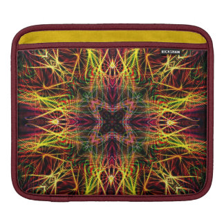 Fraktal-quere helle Flamme iPad Tablette-Hülse iPad Sleeve