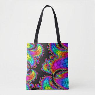 Fraktal-Regenbogen-Explosion Tasche