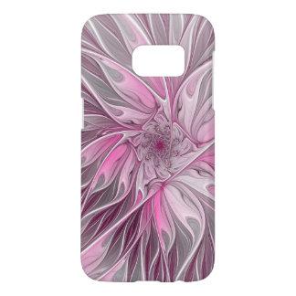 Fraktal-rosa Blumen-Traum, Blumenphantasie-Muster