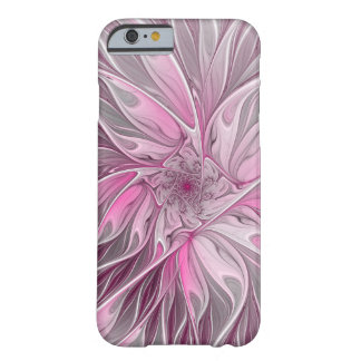 Fraktal-rosa Blumen-Traum, Blumenphantasie-Muster Barely There iPhone 6 Hülle