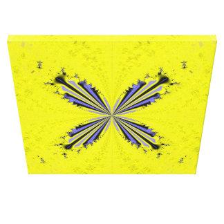Fraktal-Schmetterling dehnte Leinwand-Druck aus Galerie Faltleinwand