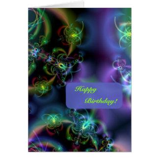 Fraktal-Schmetterlings-alles Gute zum Geburtstag Karte