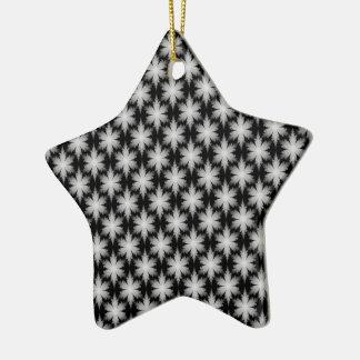 Fraktal-Schneeflocke-Verzierung Keramik Ornament