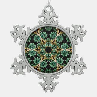 Fraktal Schneeflocken Zinn-Ornament