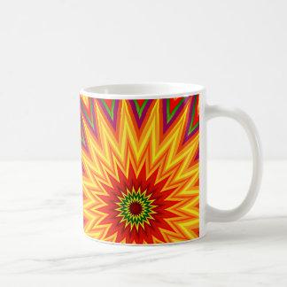 Fraktal-Sonnenblume-abstrakte Blumenkunst Kaffeetasse