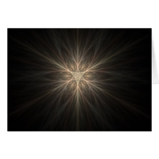 Fraktal-Stern-oder Schneeflocke-Entwurf Karte