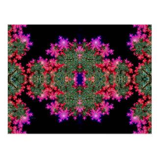 Fraktal-Symmetrie Postkarte