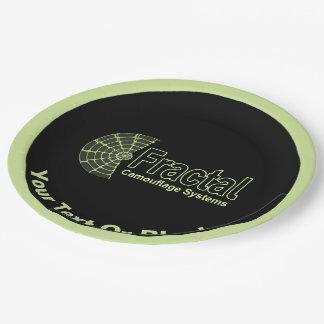 Fraktal-Tarnungs-Systems-Logo Pappteller
