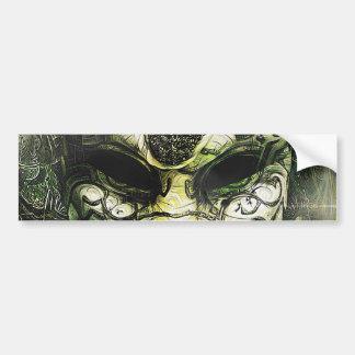 Fraktal-tiefe Träume einer venezianischen Maske Autoaufkleber