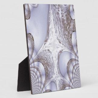 Fraktal von einem verärgerten Meer Fotoplatte