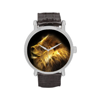Fraktallöwe Uhr