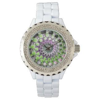 Fraktalspirale Uhren