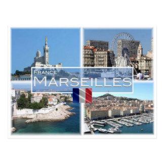 Franc Frankreich - Marseille - Postkarte