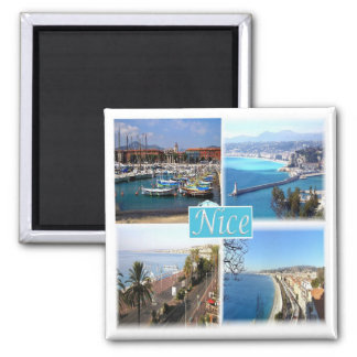 Franc * Frankreich - Nizza Provence Quadratischer Magnet