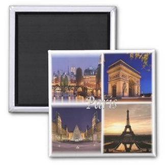 Franc - Frankreich - Paris Quadratischer Magnet