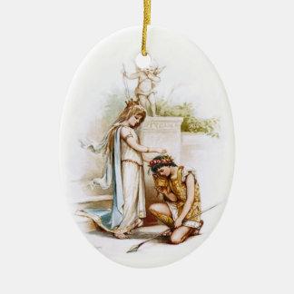 Frances Brundage: Prinzessin Thaisa und Pericles Ovales Keramik Ornament