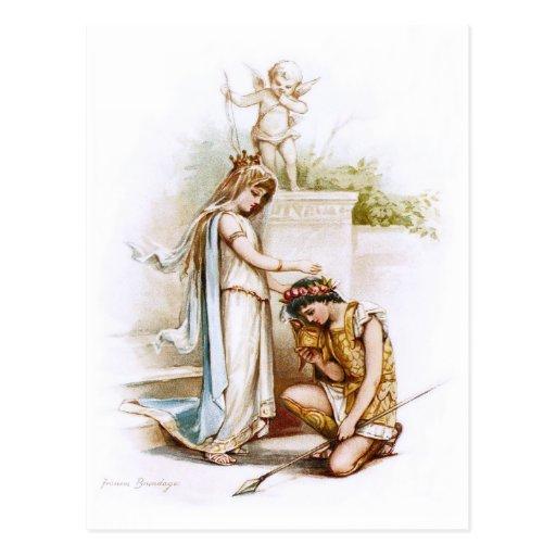 Frances Brundage: Prinzessin Thaisa und Pericles Postkarte