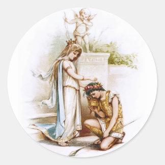 Frances Brundage: Prinzessin Thaisa und Pericles Runder Aufkleber