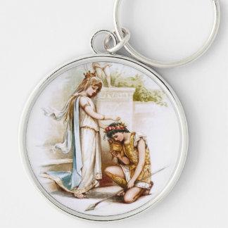 Frances Brundage: Prinzessin Thaisa und Pericles Silberfarbener Runder Schlüsselanhänger