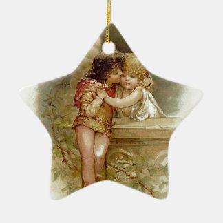 Frances Brundage: Romeo und Juliet - Vintage Kunst Keramik Stern-Ornament