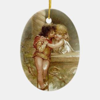 Frances Brundage: Romeo und Juliet - Vintage Kunst Ovales Keramik Ornament