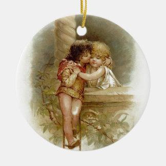 Frances Brundage: Romeo und Juliet - Vintage Kunst Rundes Keramik Ornament