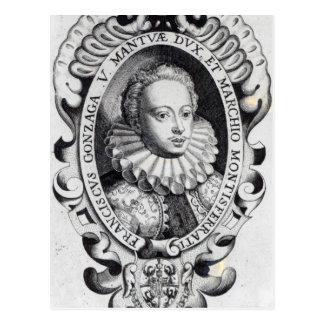 Francesco Gonzago, Herzog von Mantua und Marquise Postkarte