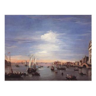 Francesco Guardi- der Giudecca Kanal mit Zattere Postkarte