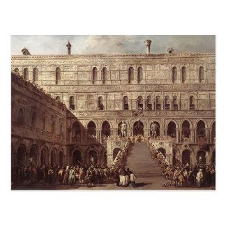 Francesco Guardi- die Krönung des Doge Postkarte