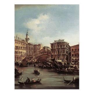 Francesco Guardi- die Rialto Brücke Postkarte