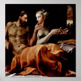 Francesco Primaticcio - Odysseus und Penelope Poster
