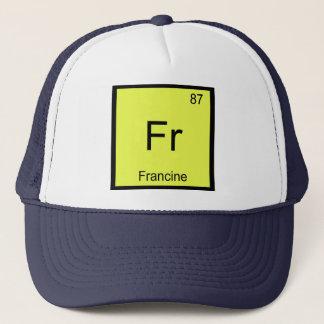 Francinenamenschemie-Element-Periodensystem Truckerkappe