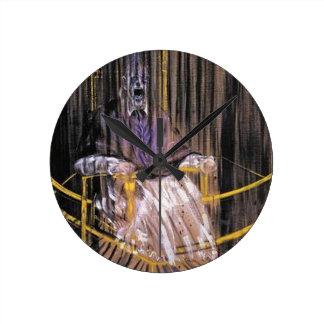 Francis Bacon - schreiende Päpste Runde Wanduhr