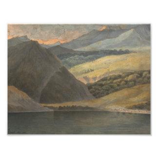 Francis Towne - Ansicht über See Maggiore am Abend Fotodruck