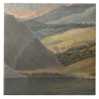 Francis Towne - Ansicht über See Maggiore am Abend Keramikfliese