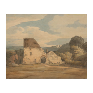 Francis Towne - Dunkerswell Abtei Holzdruck