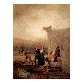 Francisco de Goya - Comicos Ambulantes Postkarte