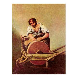 Francisco de Goya - der Schleifer Postkarte