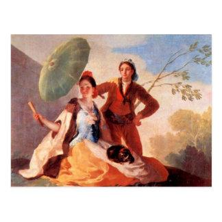 Francisco de Goya - die Regenschirme Postkarte